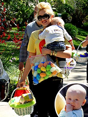 Gwen Stefani and her fashionable family all looked so adorable on Easter while visiting Gwen's grandparents.
