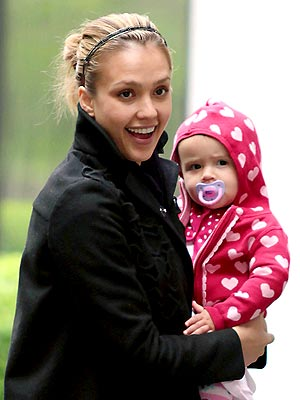 Jessica Alba and 11 month old daughter Honor step out in NYC.