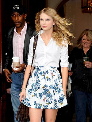 A springtime Taylor Swift looks great in London preparing for her two shows at O2 Shepherd's Bush Empire.
