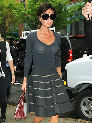 The stylish Victoria Beckham attends an art gallery on Tuesday.