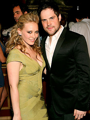 Hilary Duff and boyfriend/hockey player Mike Comrie attend the opening of West Hollywood store Live!.