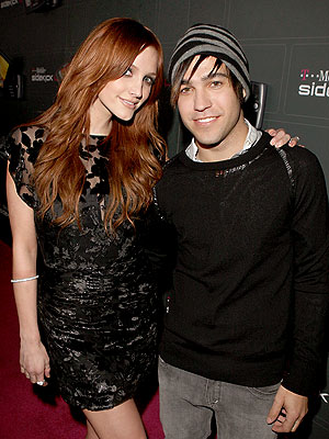 Parents Pete Wentz and Ashlee Simpson Wentz attend the T Mobile Sidekick LX Launch party.
