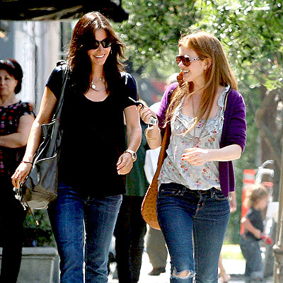 Buddies Courtney Cox Arquette and Isla Fisher on their way to have lunch at Joan's on Third in LA.
