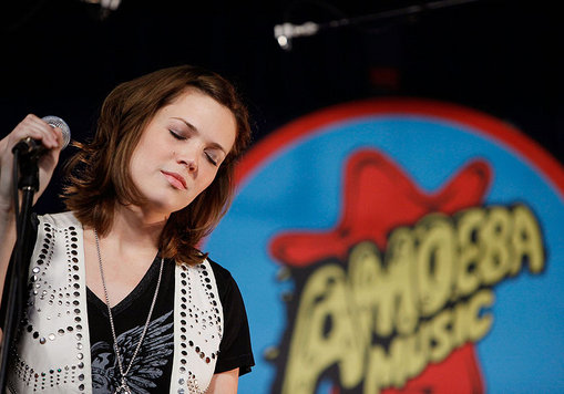 Mandy Moore performs in Amoeba Records in Hollywood.