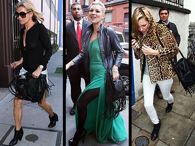 "The ""Kate"" fringe bag by New York designer Genevieve Jones is just as versatile as it's namesake."