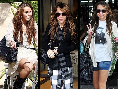 "The ulitmate rock star errand bag is Miley Cyrus' favorite Treesje ""Mortale"" skull-print tote."