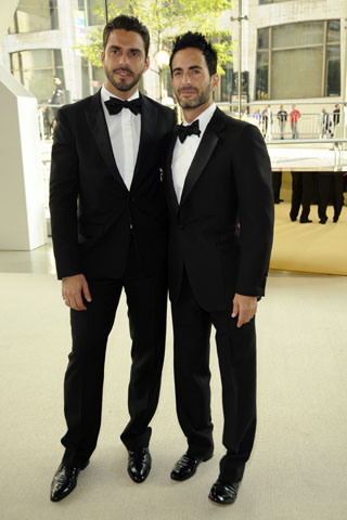 Lorenzo Martone with International Award winner Marc Jacobs of Louis Vuitton.