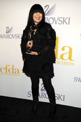 Geoffrey Beene Lifetime Achievement Award winner Anna Sui.