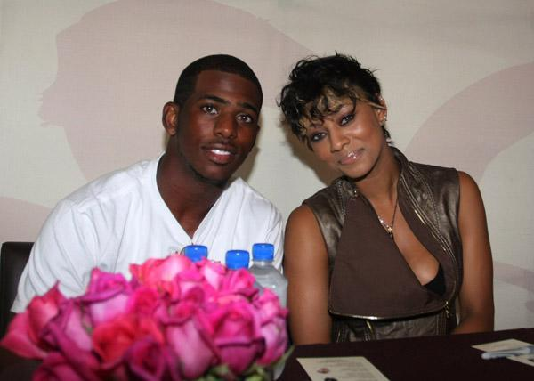 Chris Paul and Keri Hilson attended the Carol's Daughter Annual Pop Up event in New Orleans during the Essence Festival.