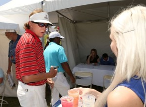 Bruce Jenner (L) attends the Marshall Faulk Celebrity Golf Championship Presented by GREY GOOSE held at La Costa Resort & Spa on May 19, 2013 in Carlsbad, California.