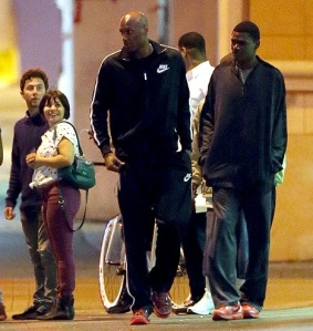 Lamar spotted out with friend on Sept 9 close to his downtown L.A. Loft.