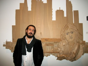 Winner Ali Golzad and his piece Castle Shadows.