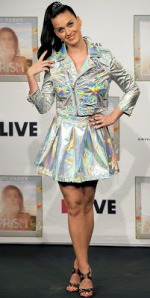 Katy Perry attended a photocall for her new album Prism at 1 LIVE Radio Station after giving an interview in Cologne, Germany on Friday. The songstress took the stage in a hologram outfit, courtesy of Unif.