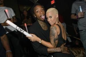 Wiz Khalifa and Amber Rose partied at TAO Nightclub in Vegas on Halloween night.