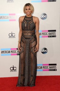 We're not crazy about Ciara's hair, but she looks awesome in this  J. Mendel Sheer Spring 2014 halter dress. Only Ciara can rock the sheer dresses without us getting tired of them (like J Lp below.)