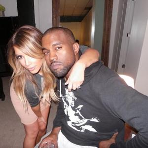 Kim and Kanye pose while on the road for 'Yeezus' tour.