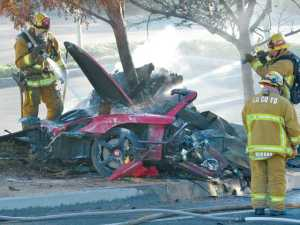 The crash occurred on Hercules Street in the Rye Canyon Industrial Park.