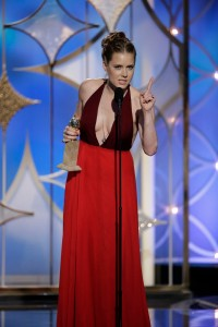 "Amy Adams won Best  Actress for  ""American Hustle."""