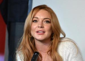 Lindsay Lohan speaks at her Press Conference at the Social Film Loft during the 2014 Sundance Film Festival.